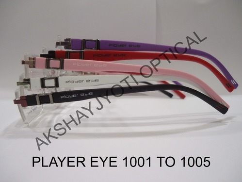 rim less optical spectacles frame player eye