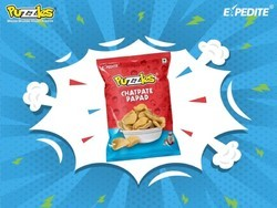 Puzzles Chatpate Papad, Packaging Size: 50 - 100 g