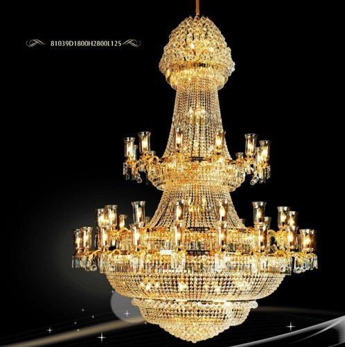 Antique Gold Chandelier Light Hanging Jhumar pendant chandelier