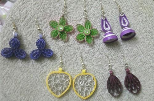 Manufacturer Of Quilling Paper Earrings Quilling Paper Flowers For