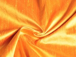 Golden And Options Aailable Plain Dupion Silk