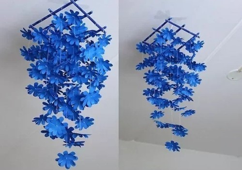 Blue Hand Crafted Diy Paper Flower Wall Hangings Rs 450 Piece Id
