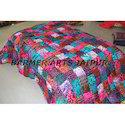 Designer Bed Cover Brasso Velvet Patchwork