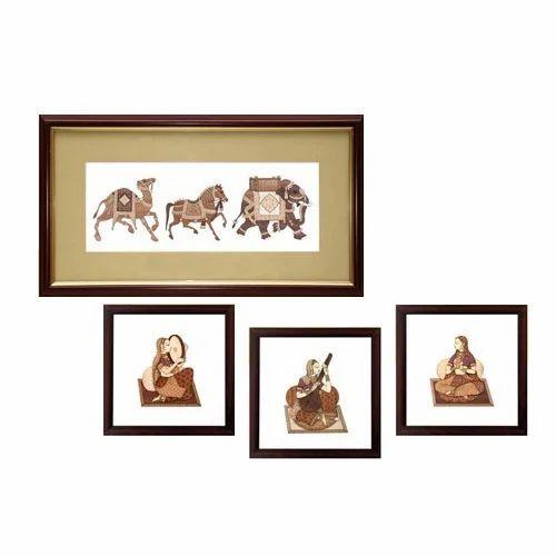 Wooden Artistic Frames Wall Art - Chirali Stones, Nashik | ID ...