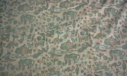 Animal Design Block Printed Fabric