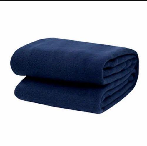 e8613c902a5b Navy Blue Woolen Blanket, Akshay Pooja Enterprise   ID: 17135380491