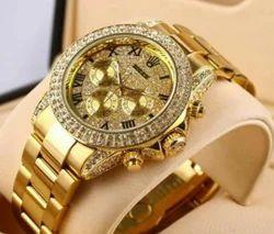 Golden Rolex Automatic Watch