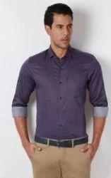 Peter England Purple Men Cotton Shirt