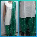Cotton Chikan Work Kurti Patiyala Suit