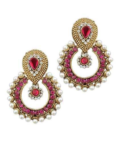 fashion detail cz shaped stone earrings gold earring gram designed heart beautiful designs product
