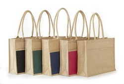2 Tone Large Jute Promotion Bag