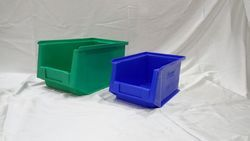 Plastic Green And Blue Industrial Bins -45, Size: Rectangular