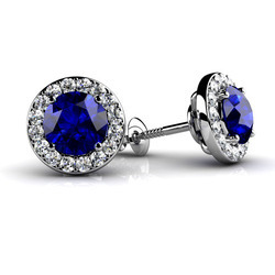 Sheetal Impex 2.64Tcw SI/FG Color Real Natural Diamonds Stud 14Kt White Gold Gemstone Earring
