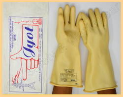 Jyot Electricity Gloves Rubber Hand Gloves 11 KVA
