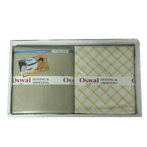 83dccd835 Geometrical Oswal Combo Suiting And Shirting Gift Pack