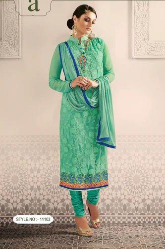 d89270a594 Sea Green Color Designer Salwar Kameez at Rs 1250 /piece | Delhi ...