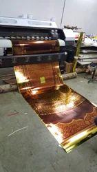 Eco Solvent Printing On Golden Vinyl With Matt Lamination