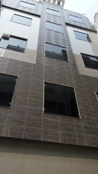 Aluminium Transparent Glass Window, For Commercial, Size/Dimension: Work In This Side