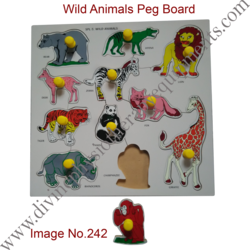 Wild Animals Peg Board