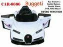 White 6666 Bugatti 12v Car