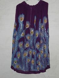 Mor Pankh Print Skirt