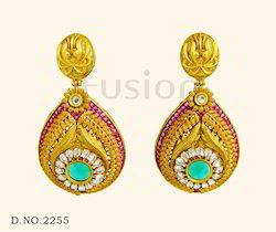 Bollywood Designer Hanging Chandelier Earrings
