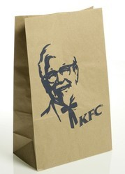 Fast Food Paper Bags 8 x 4 x 12 Inches