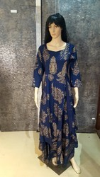 Woman Stitched Cotton Kurti