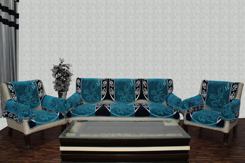 Chenille Sofa Cover Farari Blue