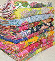 Mix Lot Tropical Kantha Bed Cover