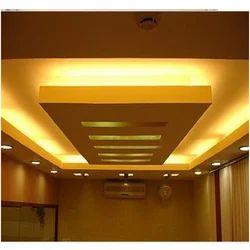 White POP Gypsum Ceiling Work