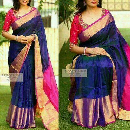 3515d70173 Uppada Pure Soft Silk Sarees, Hand, 5.5 M (separate Blouse Piece ...