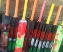 Multi Color Bats Wooden Cricket Bat