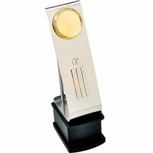 Cricket Metal Trophy Shape Custom