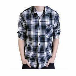 1fe188b670c09e Cotton Men s Blue And White Check Shirt