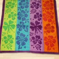 Yarn Dyed Floral Design Velour Jacquard Towels
