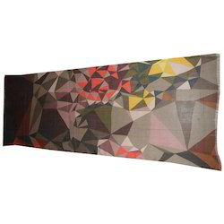 Multicolored Digital Printed Silk Cashmere Stole