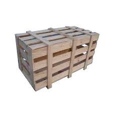 Square Closed Crates Jangal Wooden Crates, for Packaging