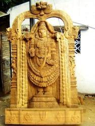 Lord Balaji  4 Feet Wooden Statue