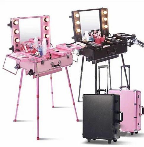 Pink Black Gold Sunrise Makeup Vanity