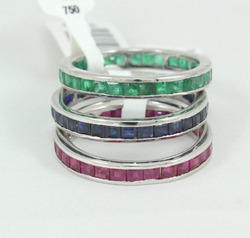 Ruby Emerald Sapphire Ring Bands