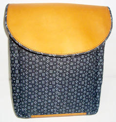 Black, Yellow Leather Canvas Bags