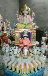 Marble Surya Dev Statue