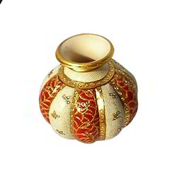 Gold Painted Marble Pots