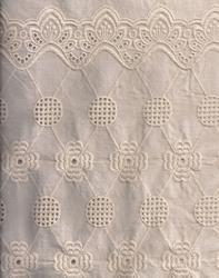 Fancy Schiffli Embroidery on Cotton Fabric, For Garments