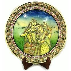 Marble Decor Round Plate MB077