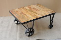 40x40x60 Cm Coffee Table With Wheel