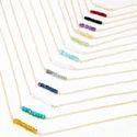 Gemstone Bead Bar Necklace
