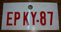 Enamel Coated Number Plate