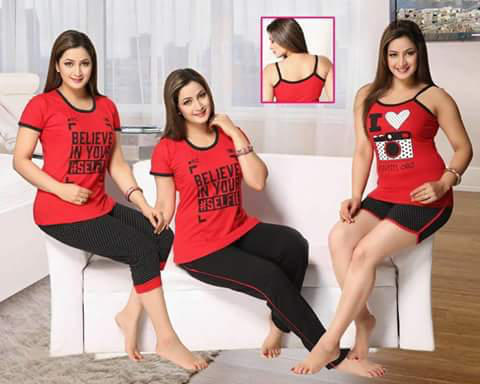 dcf697d5f2 Bhavya Fashion Multicolor Night Suits 5pic Combo, Rs 1050 /piece ...
